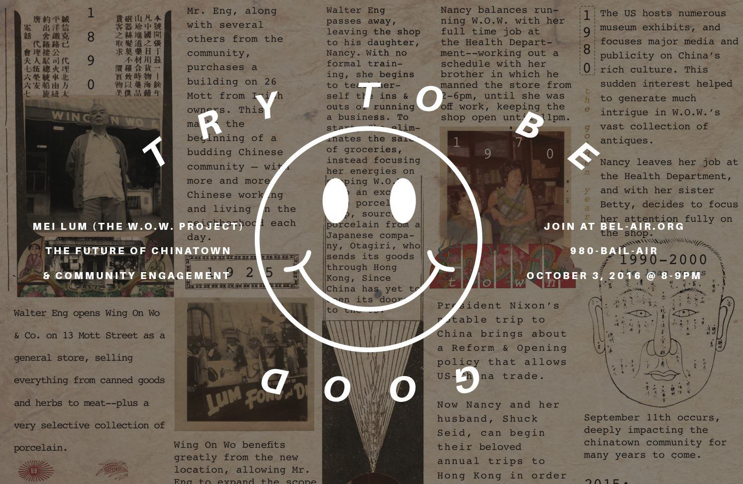 Try To Be Good : Radio Bel Air - October 2016