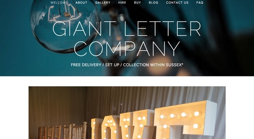 We hope you like the new look. 😎   Ashleigh - Giant Letter Company