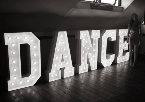 GIANT DANCE LETTERS