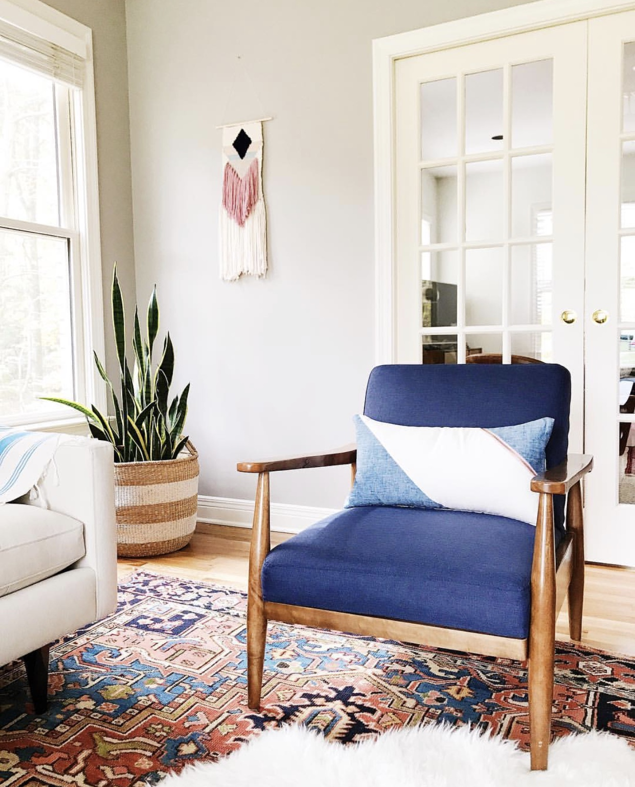 """I have always loved the beautiful aesthetic of Sunwoven weavings, so when I moved into my new home, I knew I needed one of my own. I worked with Erin to match the style and colors with the vibe I wanted in my home, and I couldn't be happier with the result! I'm so impressed with not only the quality of the product, but the quality of the person(s) behind it.""   Katie McCarthy,  @asformyhouse"