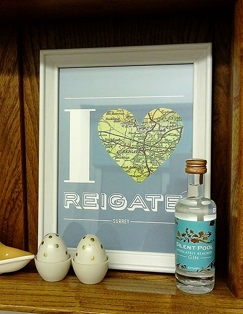Share the love! - You can still pick up one of Sarah's artworks but you have to act quickly as the last of her prints are going fast!Reigate prints are available at Gerrards and Chalk Hills Bakery.Redhill prints are at Lemonade Lane Chalk Hills.
