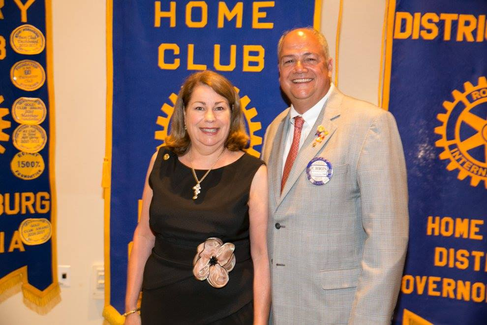 District Governor, Chris Runion with his wife Jennifer