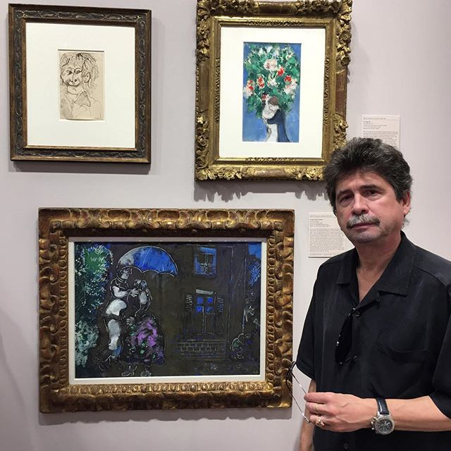 @andreiprotsouk professor at the Repin Imperial Art Academy, Evsey Moiseenko, was a #marcchagal contemporary and had great stories about him #artbasel #artbasel2016 #fineart #art #painting