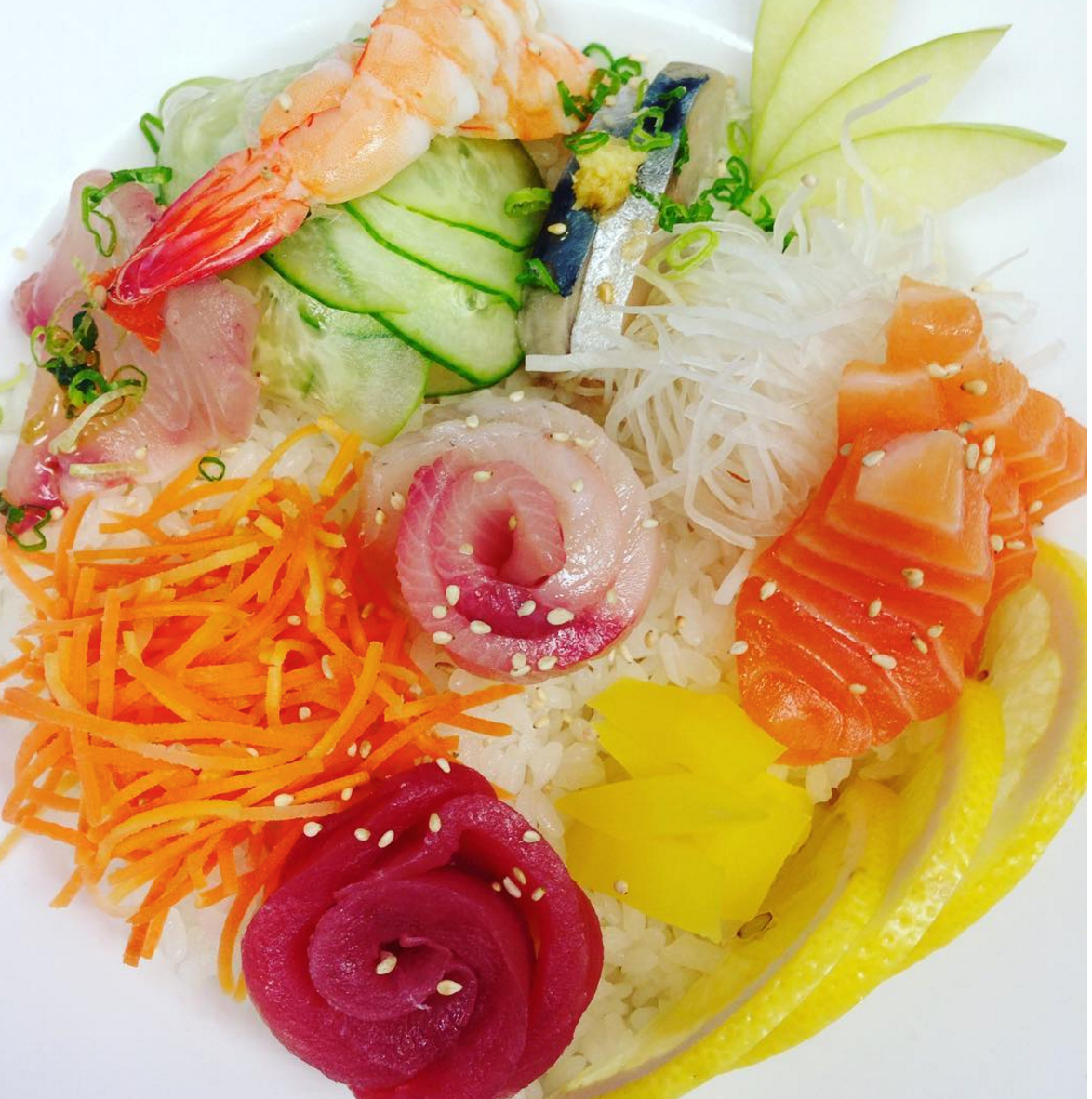 Chirashi bowl Photo By: Olivia Van Wormer