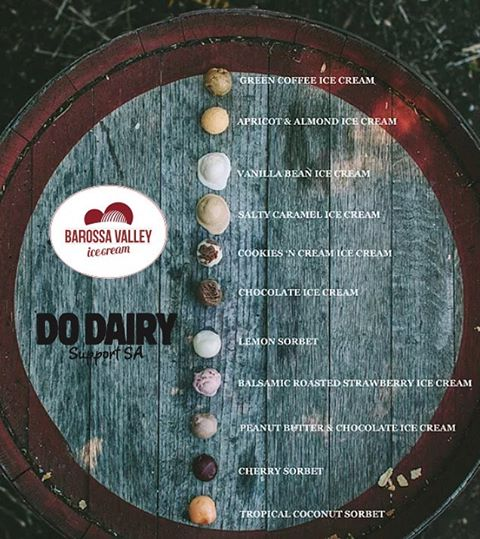 @barossa_valley_ice_cream have a huge selection of delicious #southaustralian ice cream for you to choose from on a hot summers day! Which would you try? #DoDairy #SupportSA