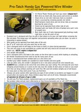Gas Winder Specs & Information