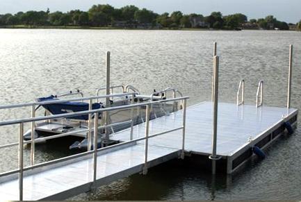 816 dock with 16' walkway on Lake Hastings in Hastings, NE.