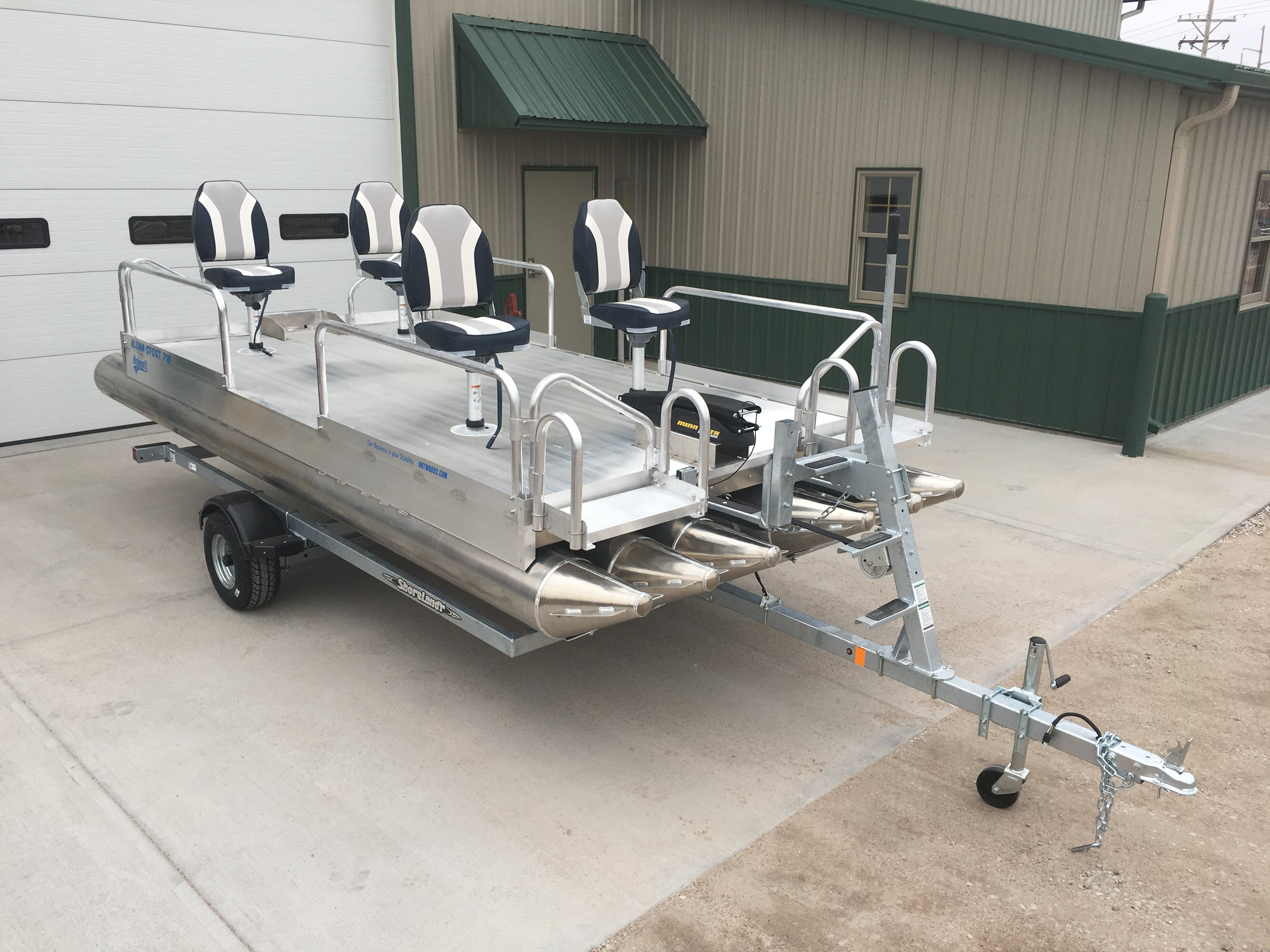 This all new pontoon boat has taken over 2 years to research and make sure it was right before we added it to the line of quality Hotwood's boats. Like all of our designs, it is unmatched with quality and stability, along with the fact, this is the boat you will give to your grandchildren.