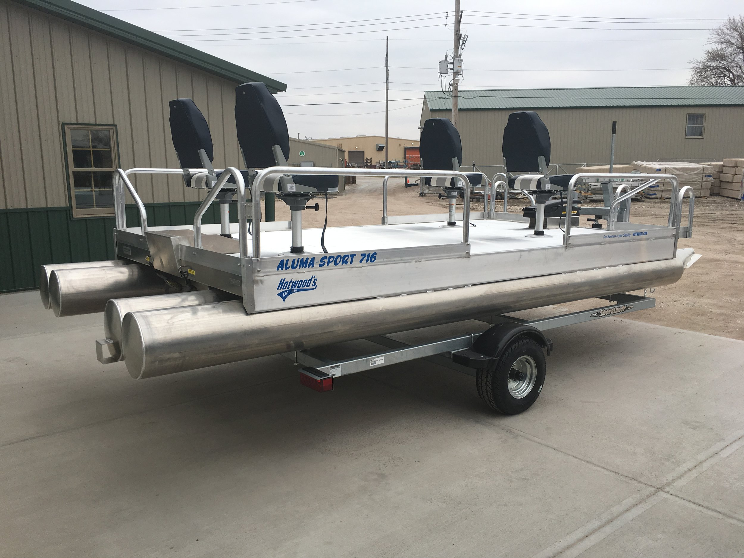 716 shown with 4 pedestal seats awaiting its new owner at our Grand Island Nebraska facility.