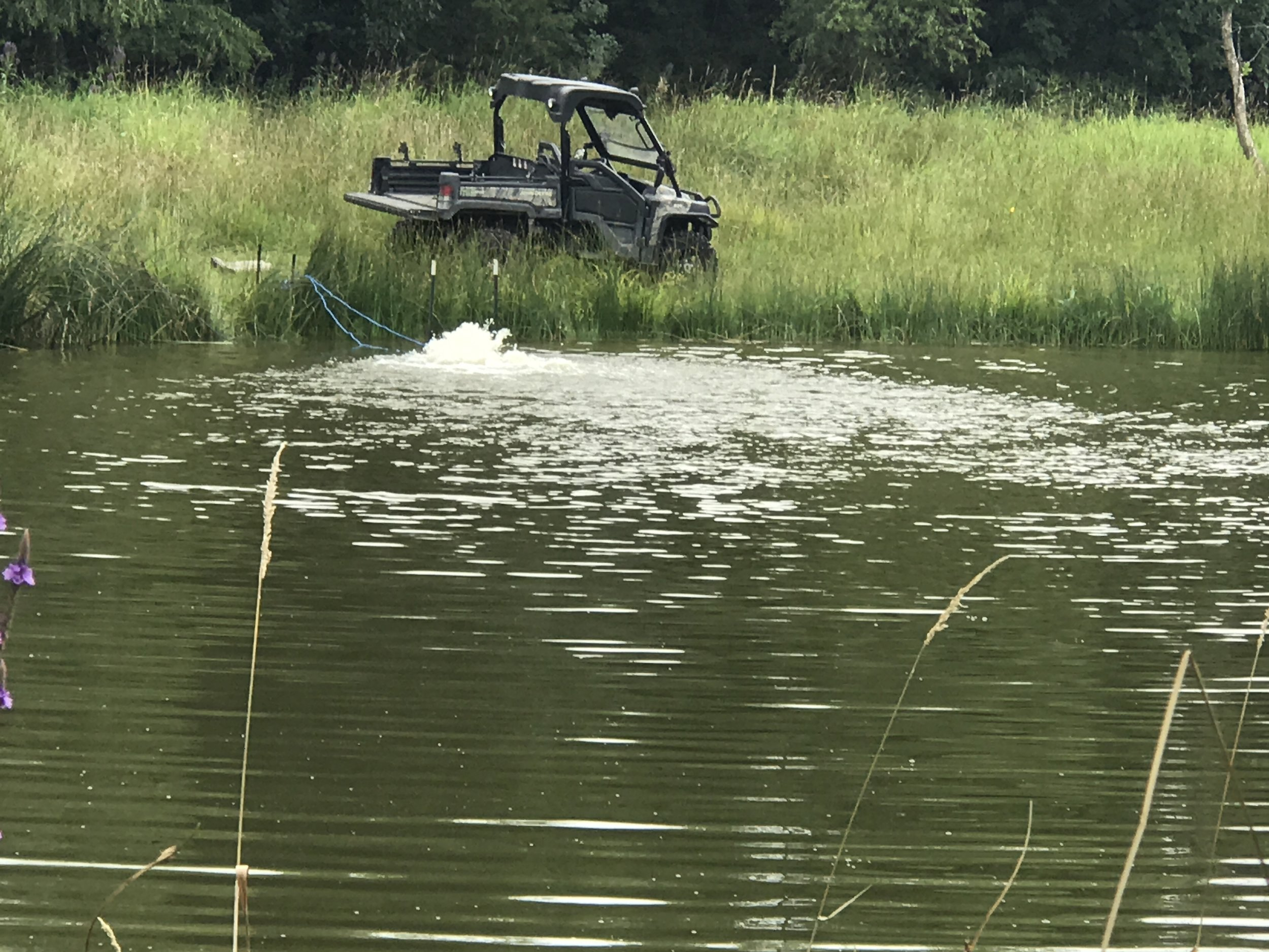 We have customers that use the Ice Eater to aerate their lakes and ponds all summer long as well as using it to keep ice off in the winter months. We all know what happens to the fish when the water gets stale or stagnate in a small pond or lake.