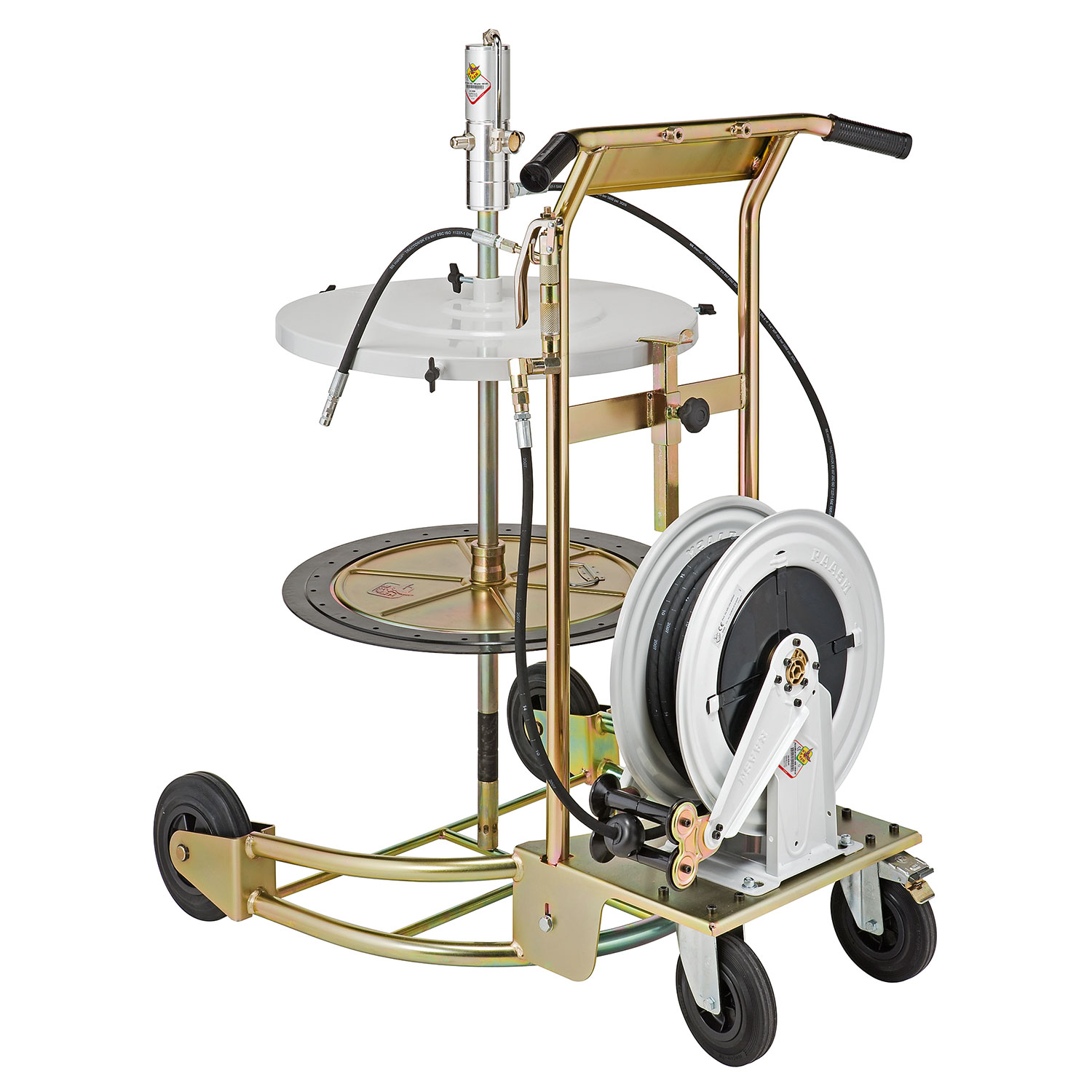 64001 - Portable, Air Operated Medium Duty Grease Pump Trolley Kit for 180kg Drums