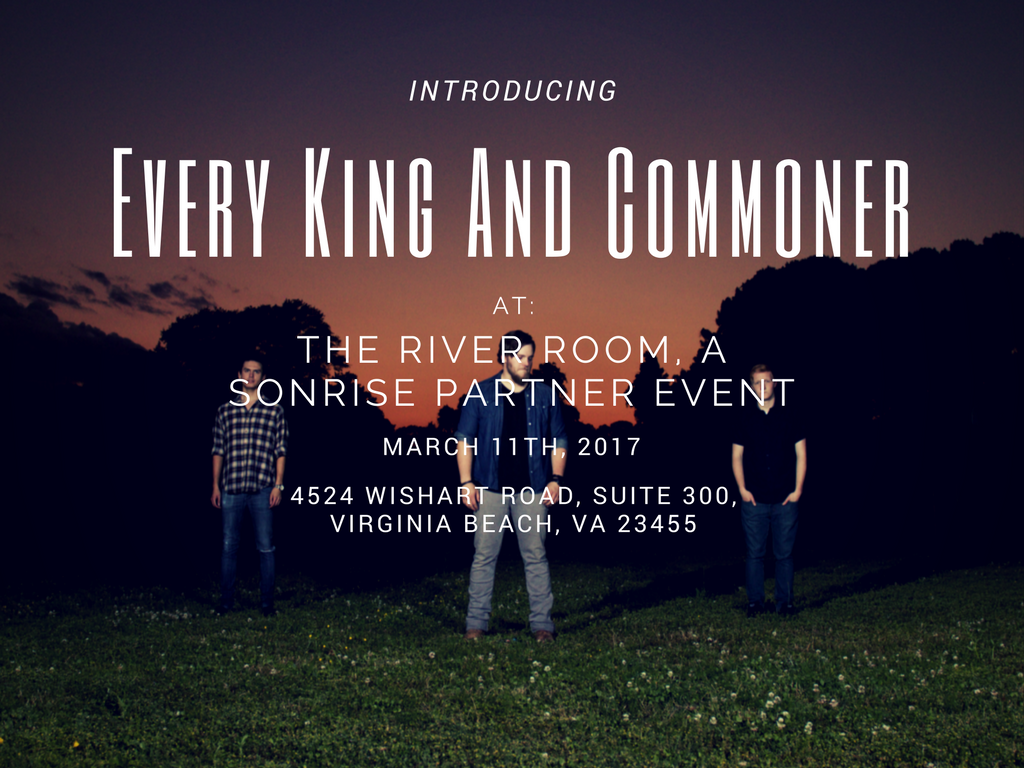 LIVE at THE RIVER ROOM - VA BEACH - in PARTNERSHIP with SONRISE MINISTRIES