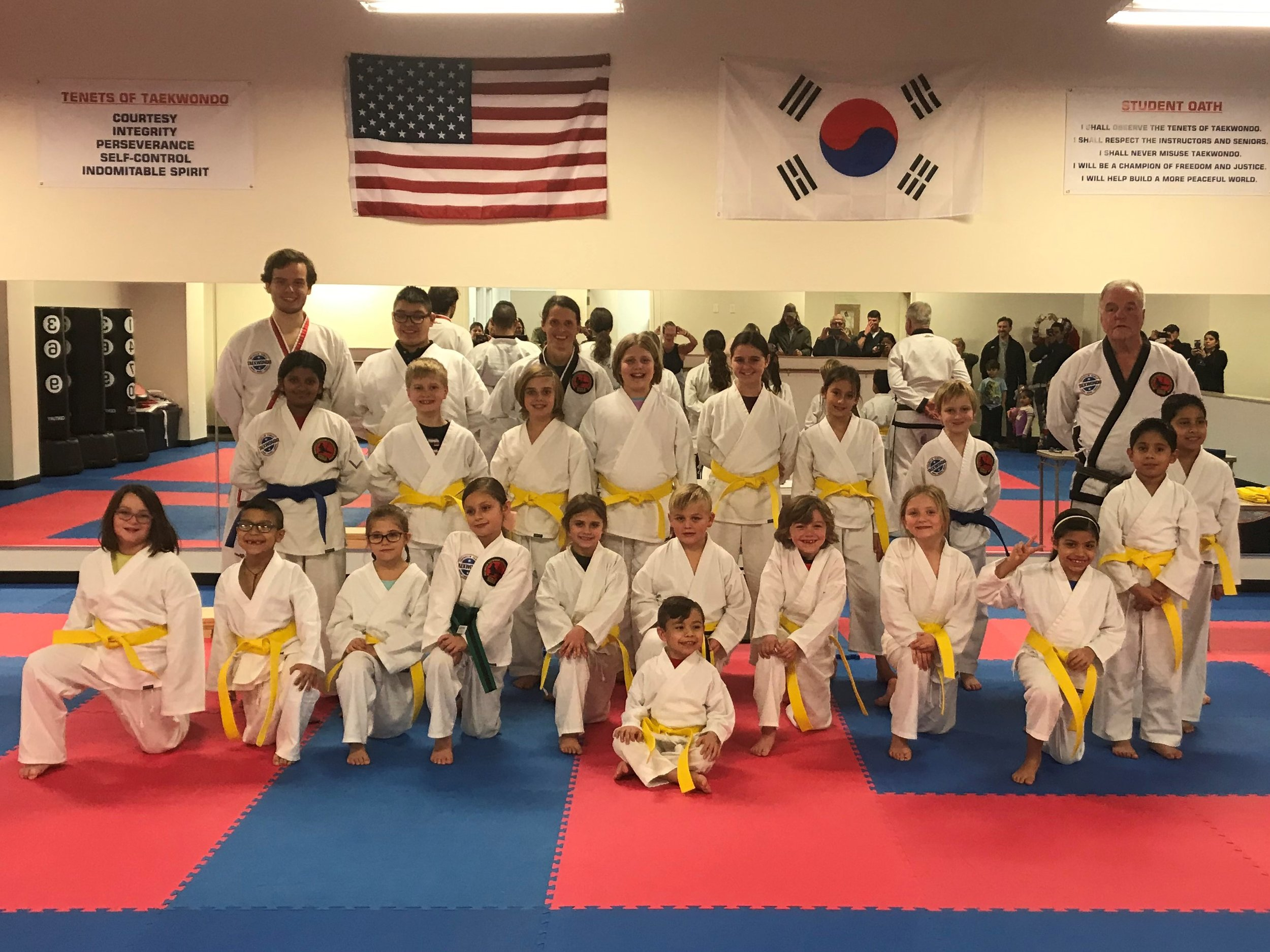 We are so proud of our students! They work hard to keep progressing through the ranks!