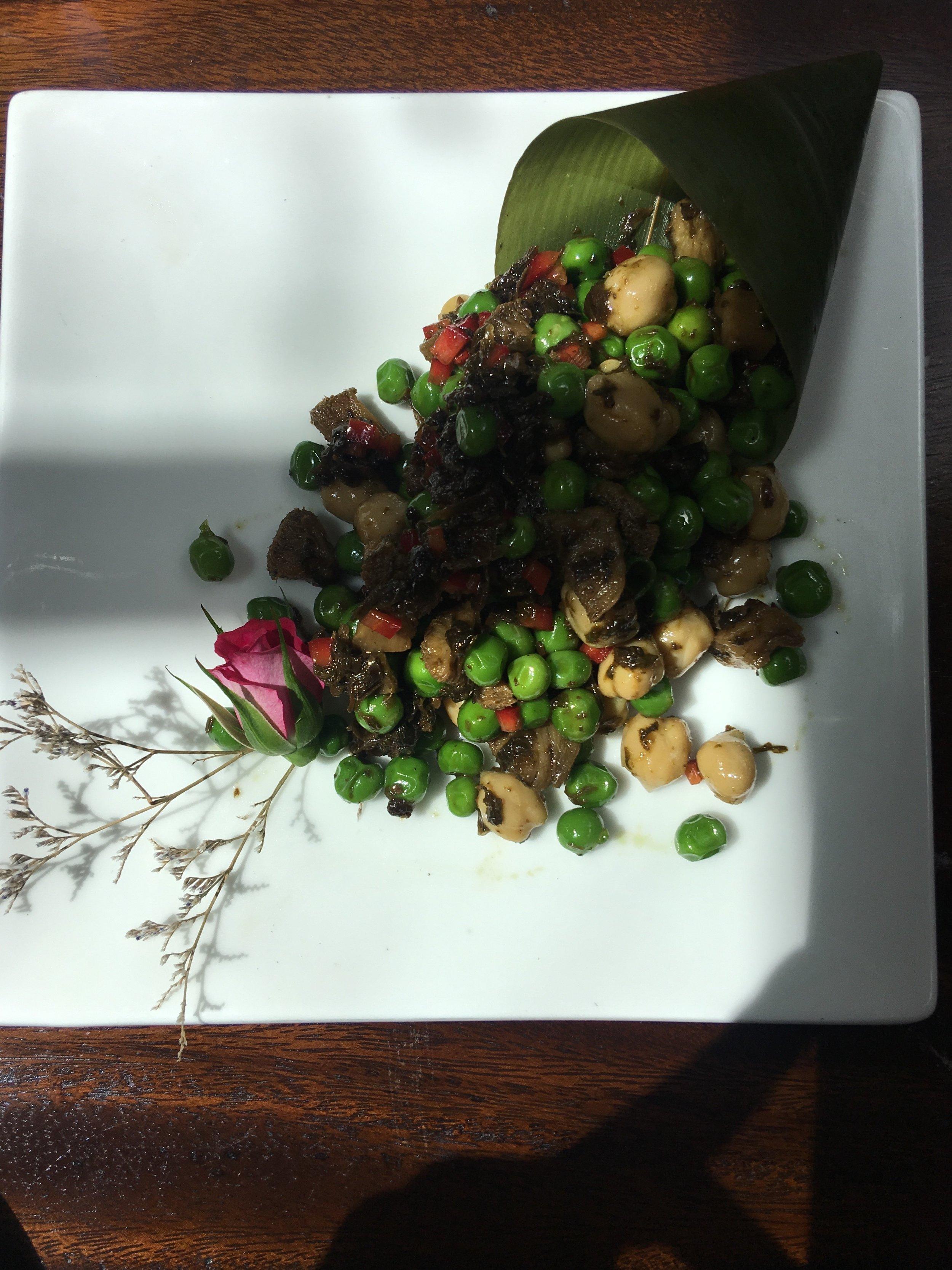 Beautiful bean salad from Faye in Dali. A restaurant run by monks.