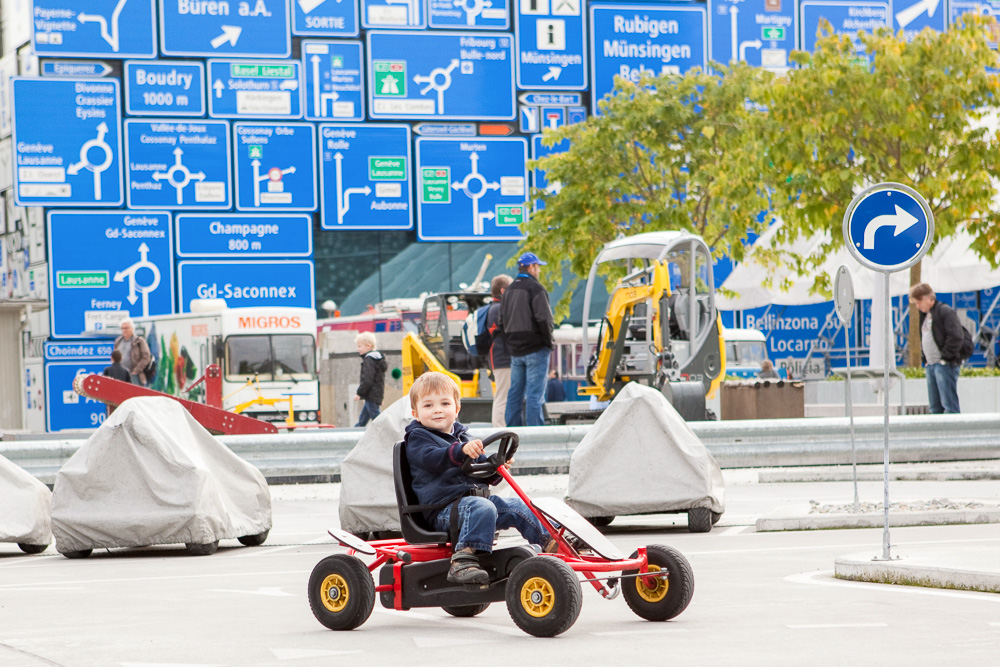 the verkehrshaus or transport museum in luzern is fun for young and old