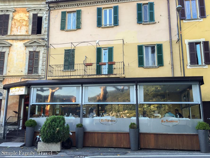 Our favourite restaurant, La Taverna in Cima