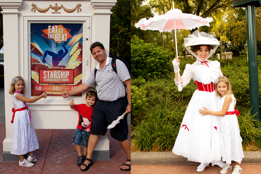 Surprised to find a Starship Concert at Epcot and meeting Mary Poppins.