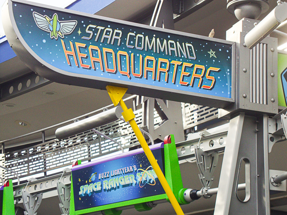 The Buzz Lightyear's Space Ranger Spin: The kids favourite ride.