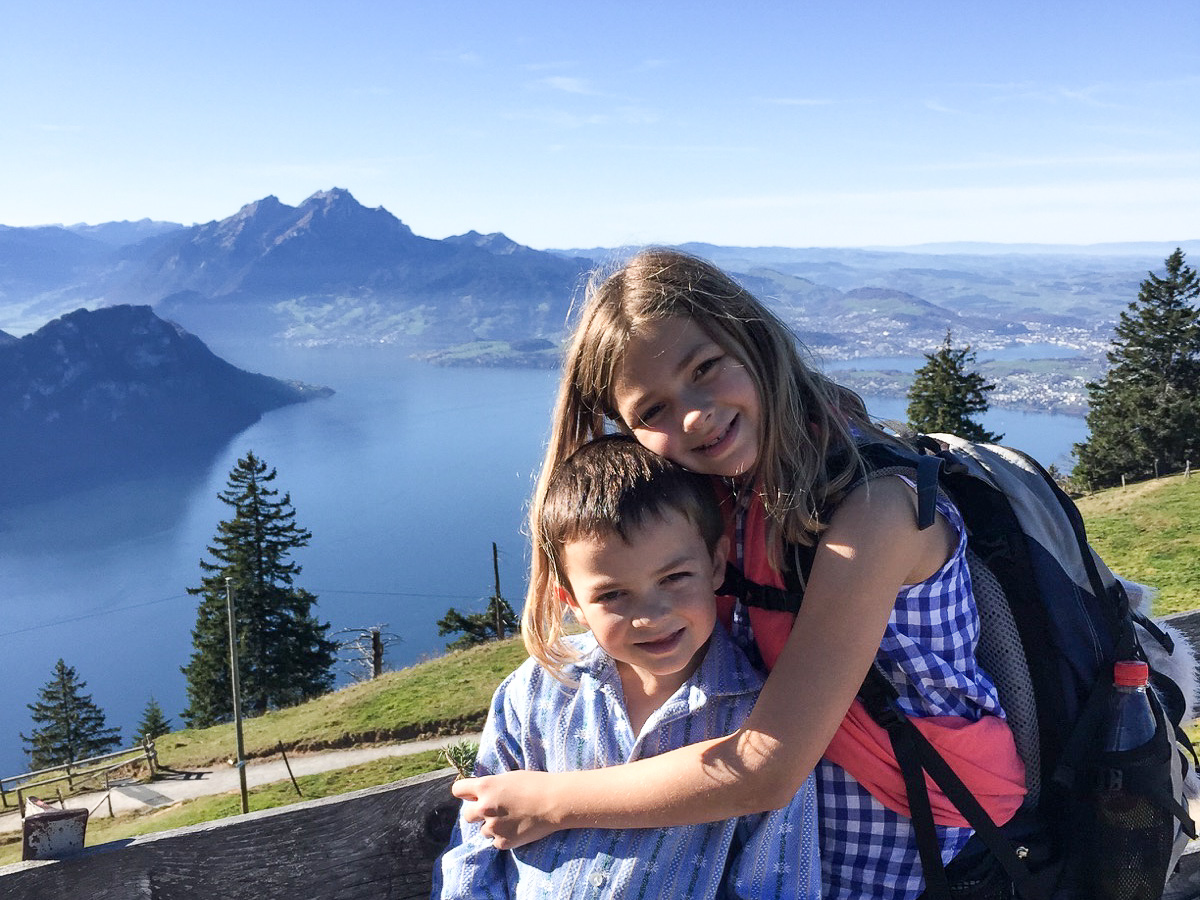 Lots of great kid friendly hikes on the Rigi, and just look at this view.