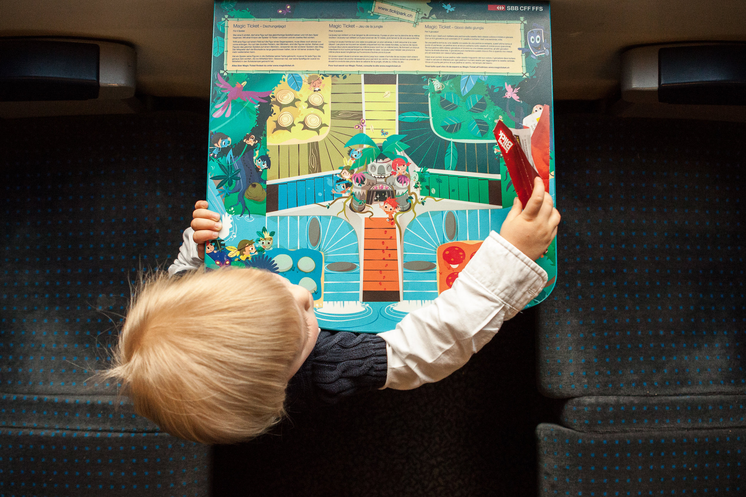 Take the train to avoid the traffic! Sit back and let someone else drive, and if you are lucky there may be a family wagon with game boards on your train.