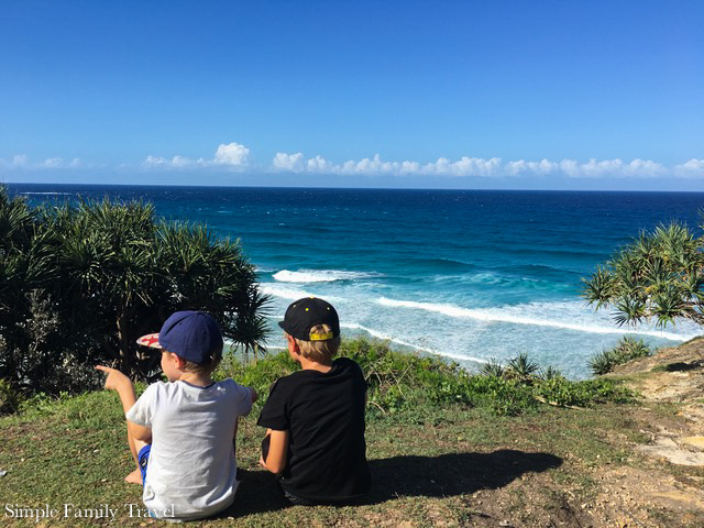 Beautiful one day perfect the next, don't forget to add Brisbane to your list! Here Rebecca's boys check out the view from beautiful Stradebroke Island.