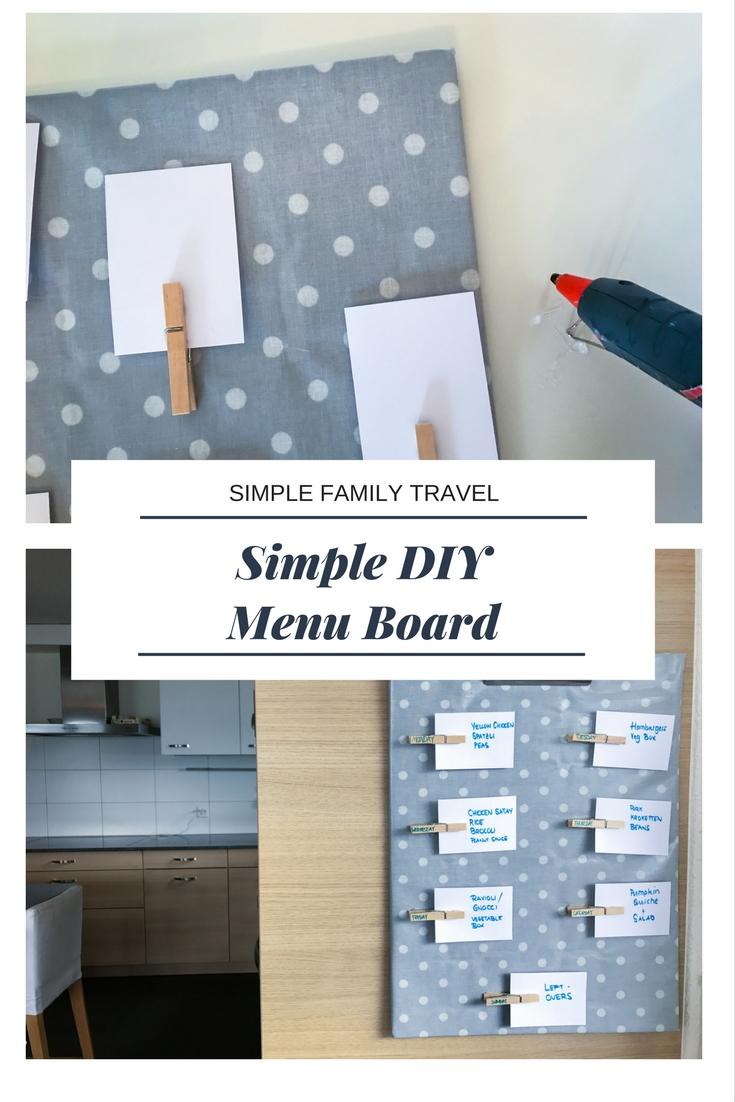 Simple Family Travel Menu Board