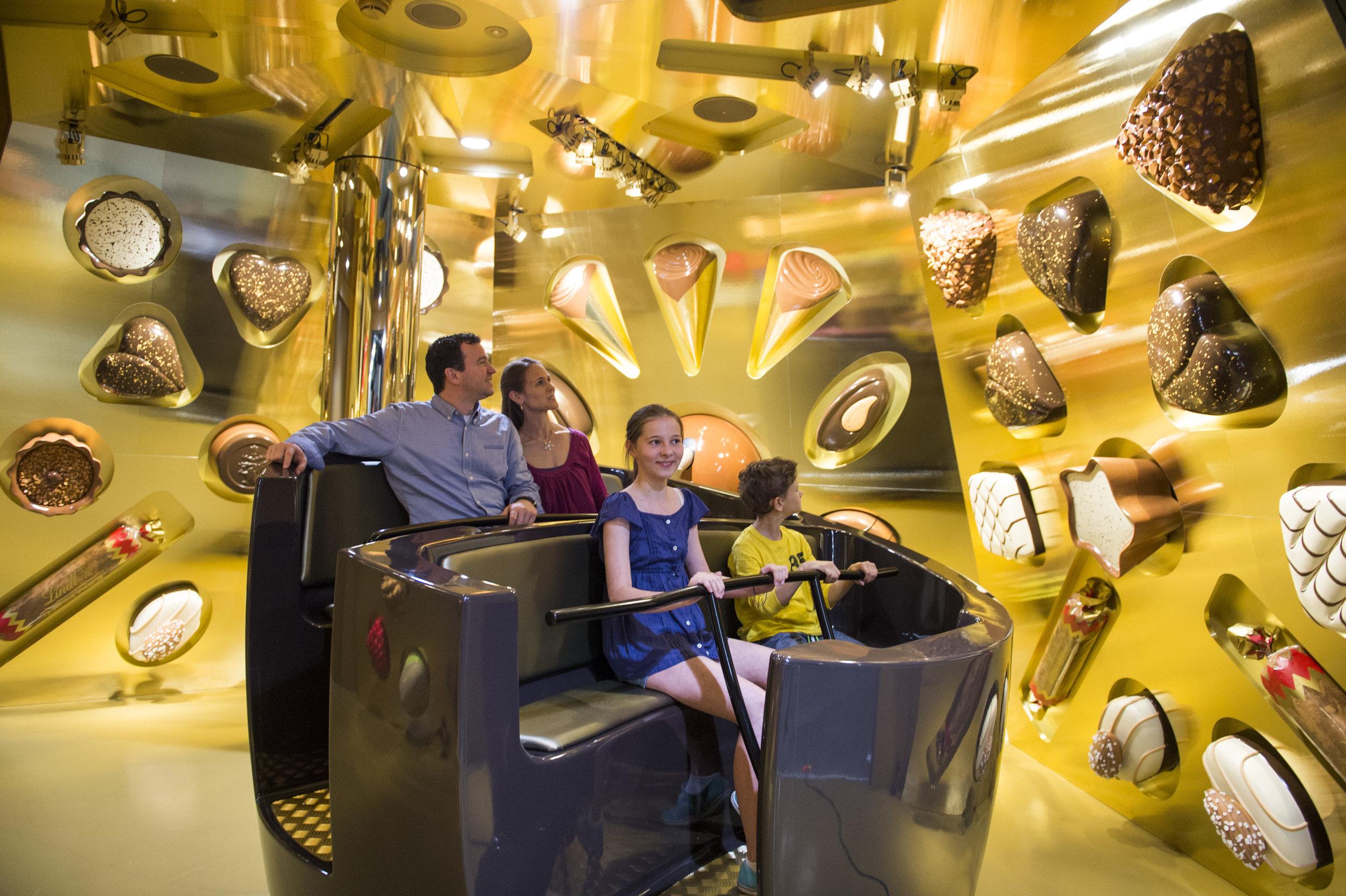 Inside the Lindt Chocolate Adventure. Photo supplied by the Verkehrshaus taken by PHOTOPRESS/Sigi Tischler