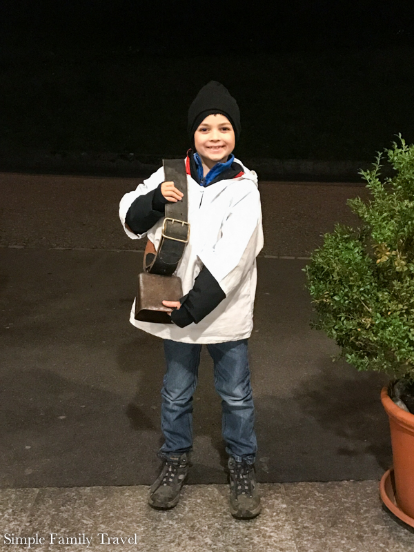 The Boy with his bells ready for Chalusjagen