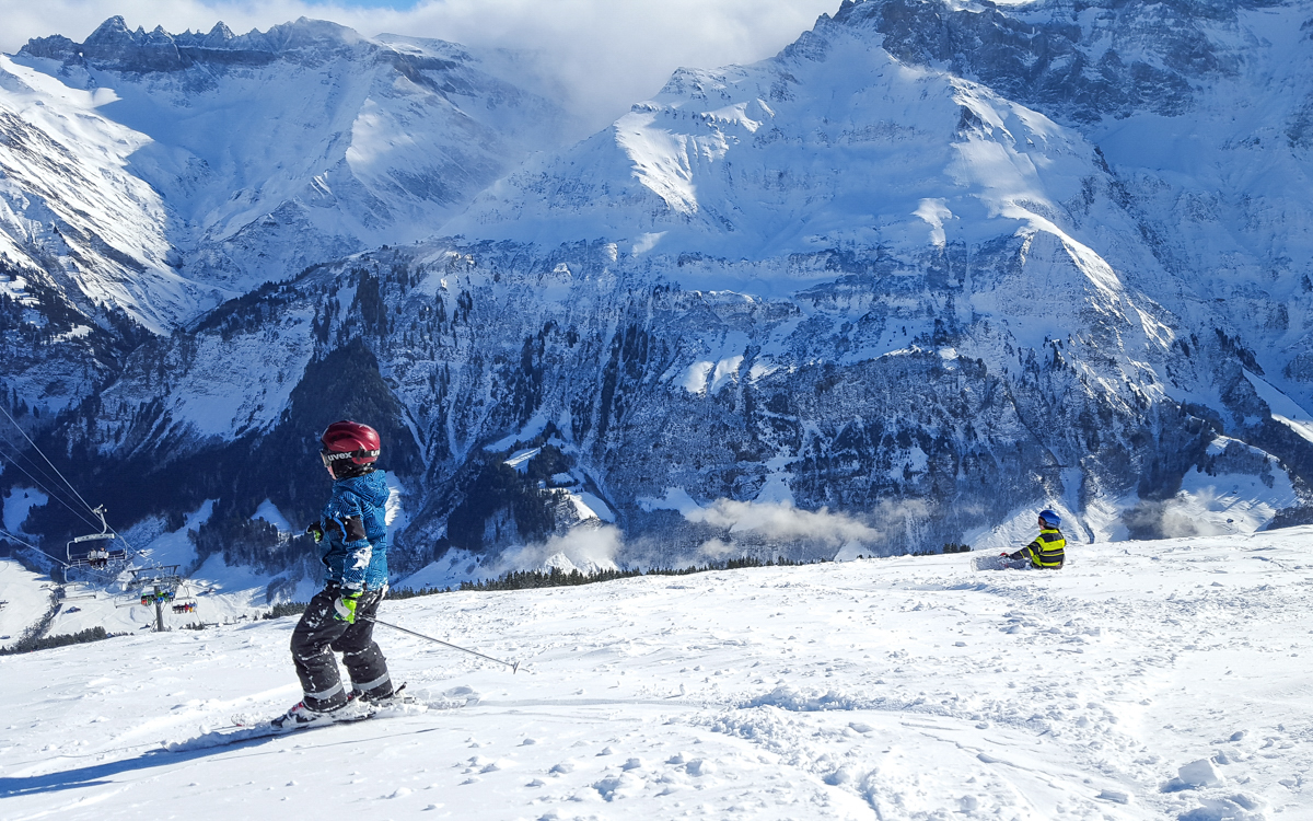 Now thats skiing with a view! Photos provided by Tanya from Moms Tots Zürich
