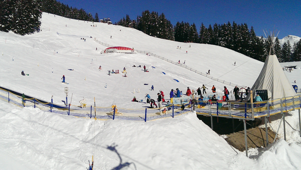 The kids ski area in Elm. Photos provided by Tanya at Moms Tots Zürich