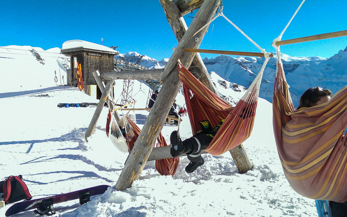 Check out these Hammocks! Looks like the perfect place to sit back and relax in the sun! Photo provided by Tanya at Moms Tots Zürich