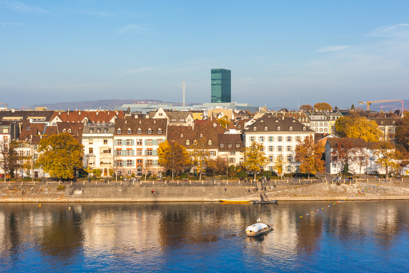 Ferry Crossing over the Rhein in Basel