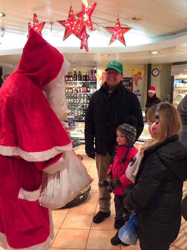 Meeting Samichlaus in a local Butcher