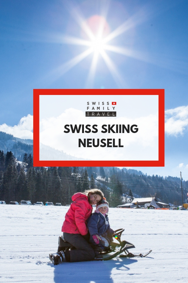 Neusell is close to Zug and a great smaller ski area to learn to ski in Switzerland