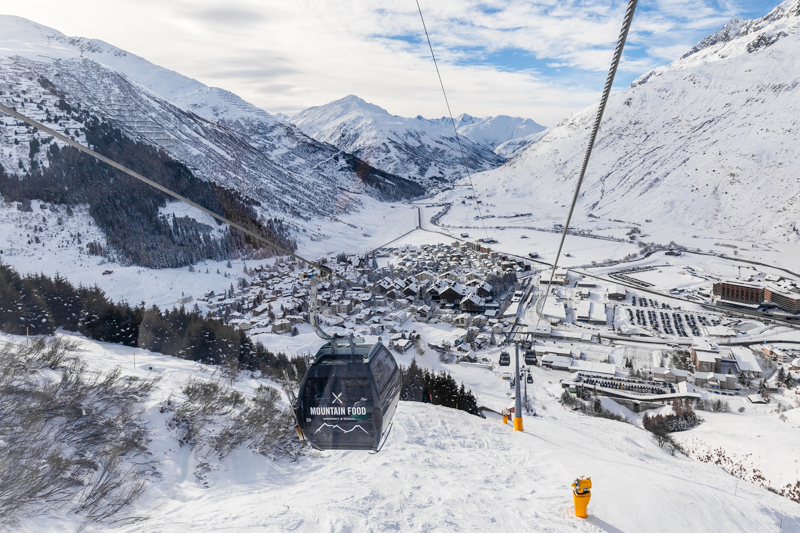 Looking down over the town of Andermatt.
