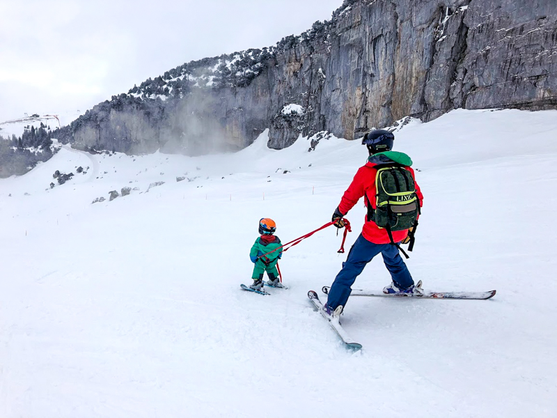 Teaching toddlers to ski