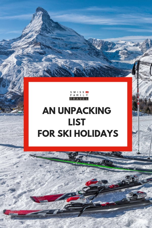 Skiing packing list with a twist