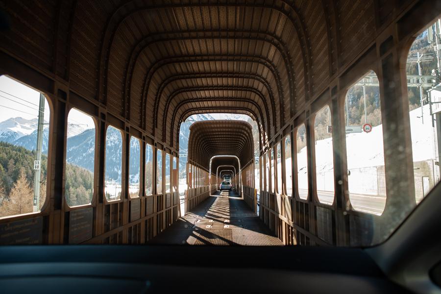 Take the Vereina Tunnel to Engadin
