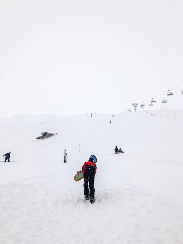 Snowboard School in Scuol - Swiss Family Travel