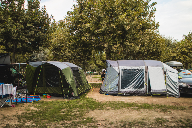 Camping pitches at Isolino Campground