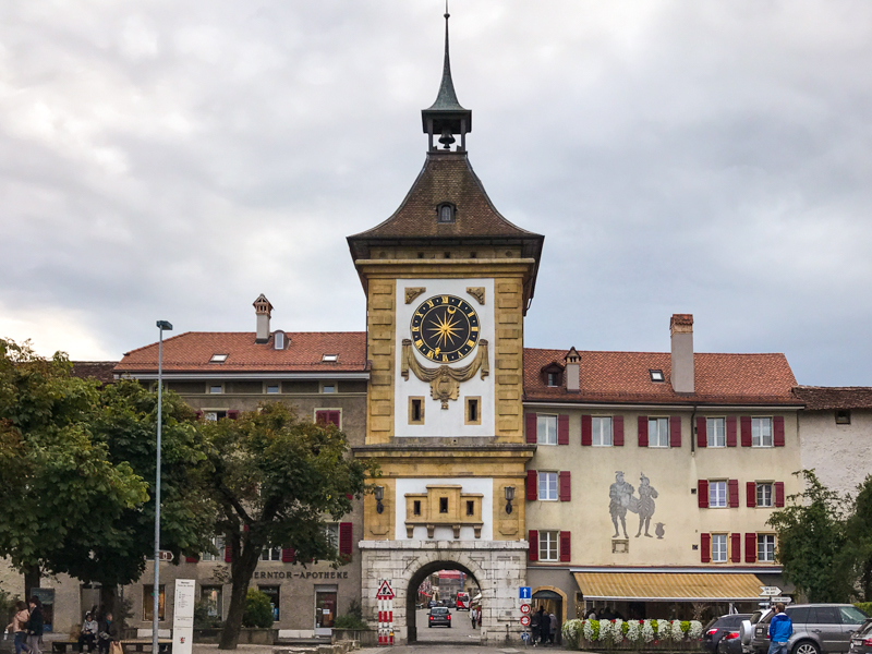Visiting the town of Murten with kids