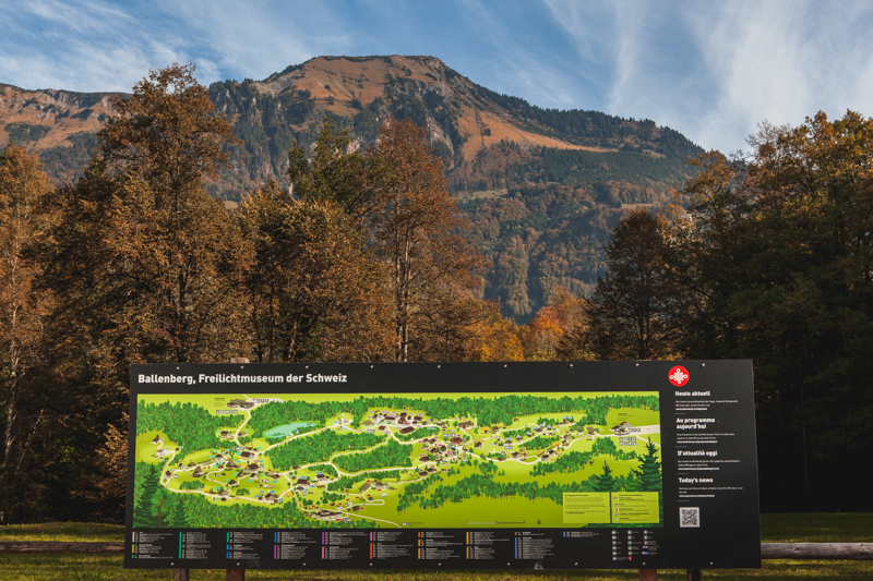 A map of the open air museum Ballenberg in Switzerland