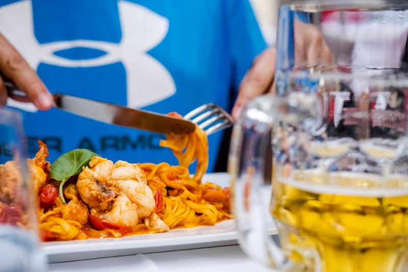 Enjoying the Italian food in Lugano, Ticino
