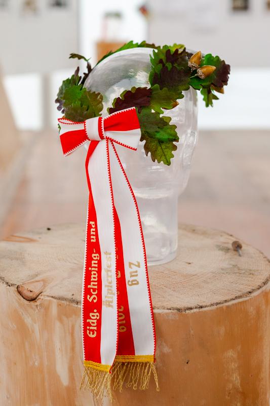 The Kranz, or crown, to be won at the Eidgenössischer Schwingfest in Zug