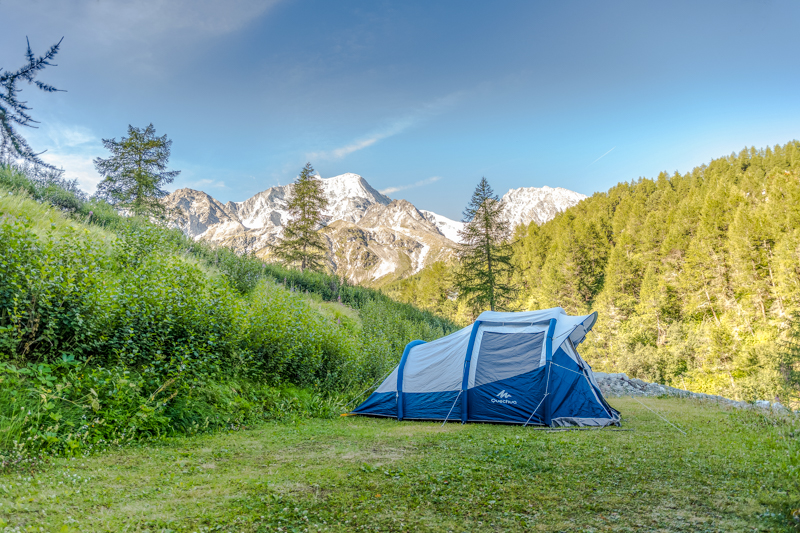 Europes highest Campground - Camping Arolla