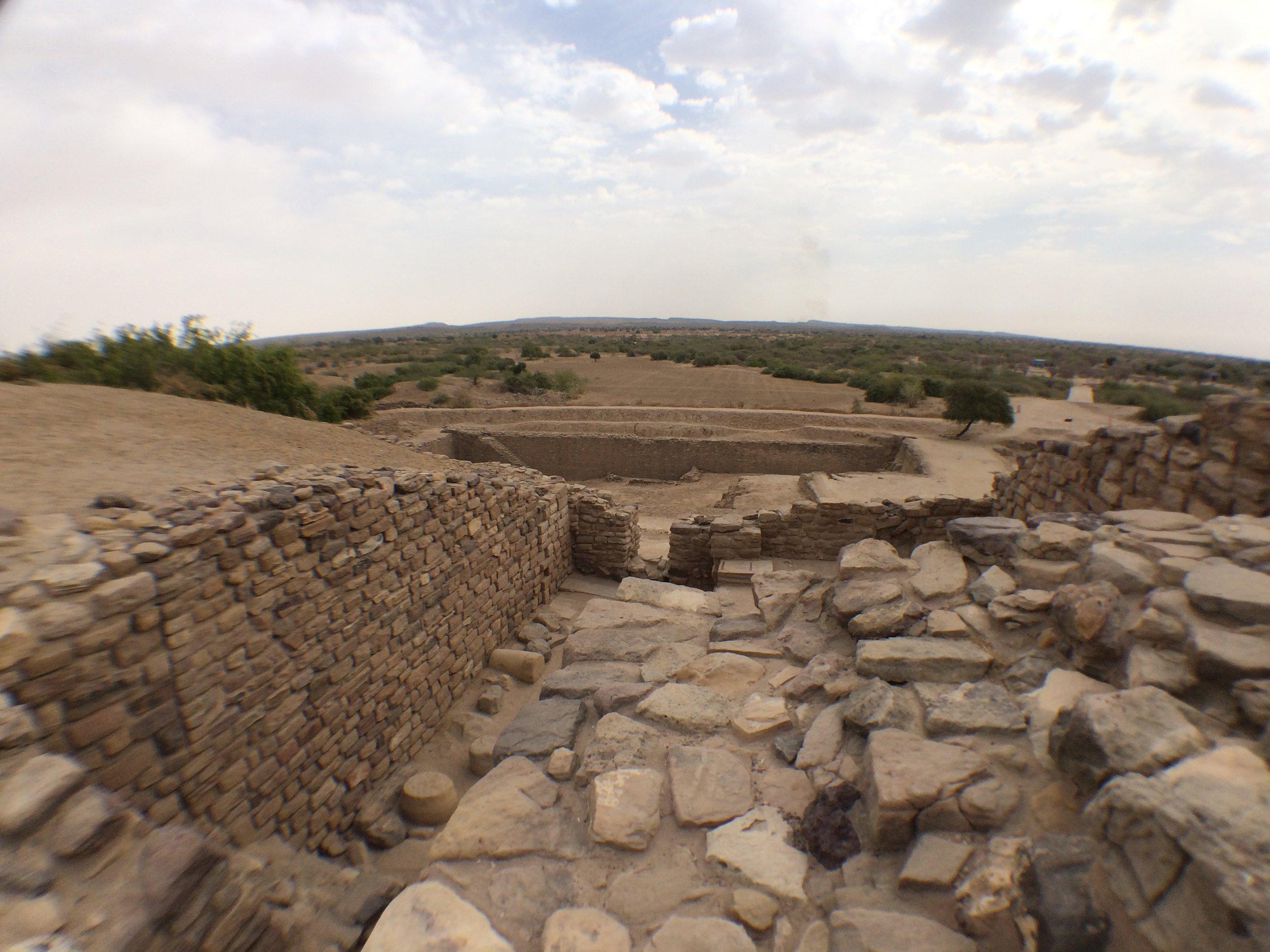 Paved pathways running through the citadel.