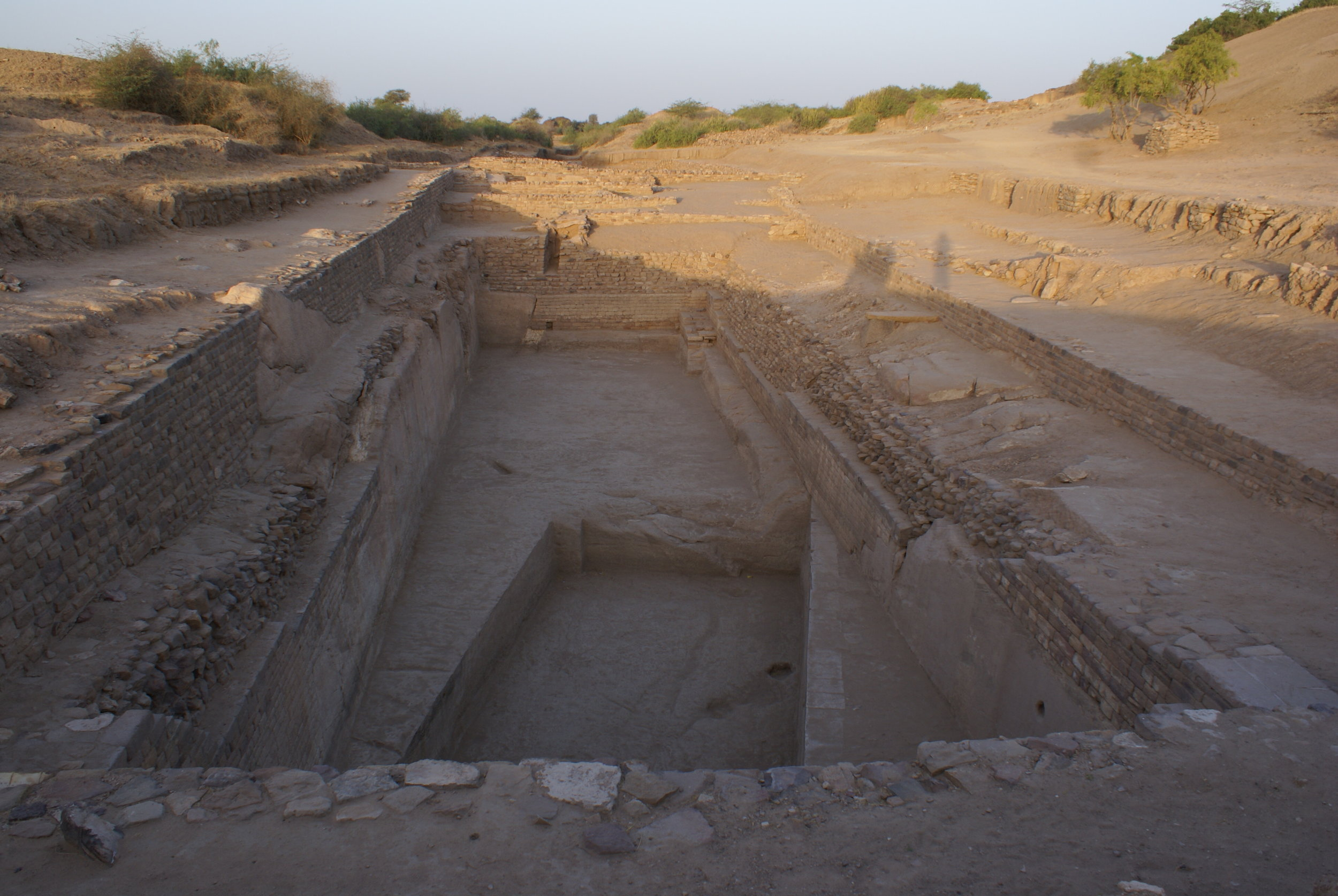 Excavated water-harvesting tank. The entire town was surrounded by these tanks.