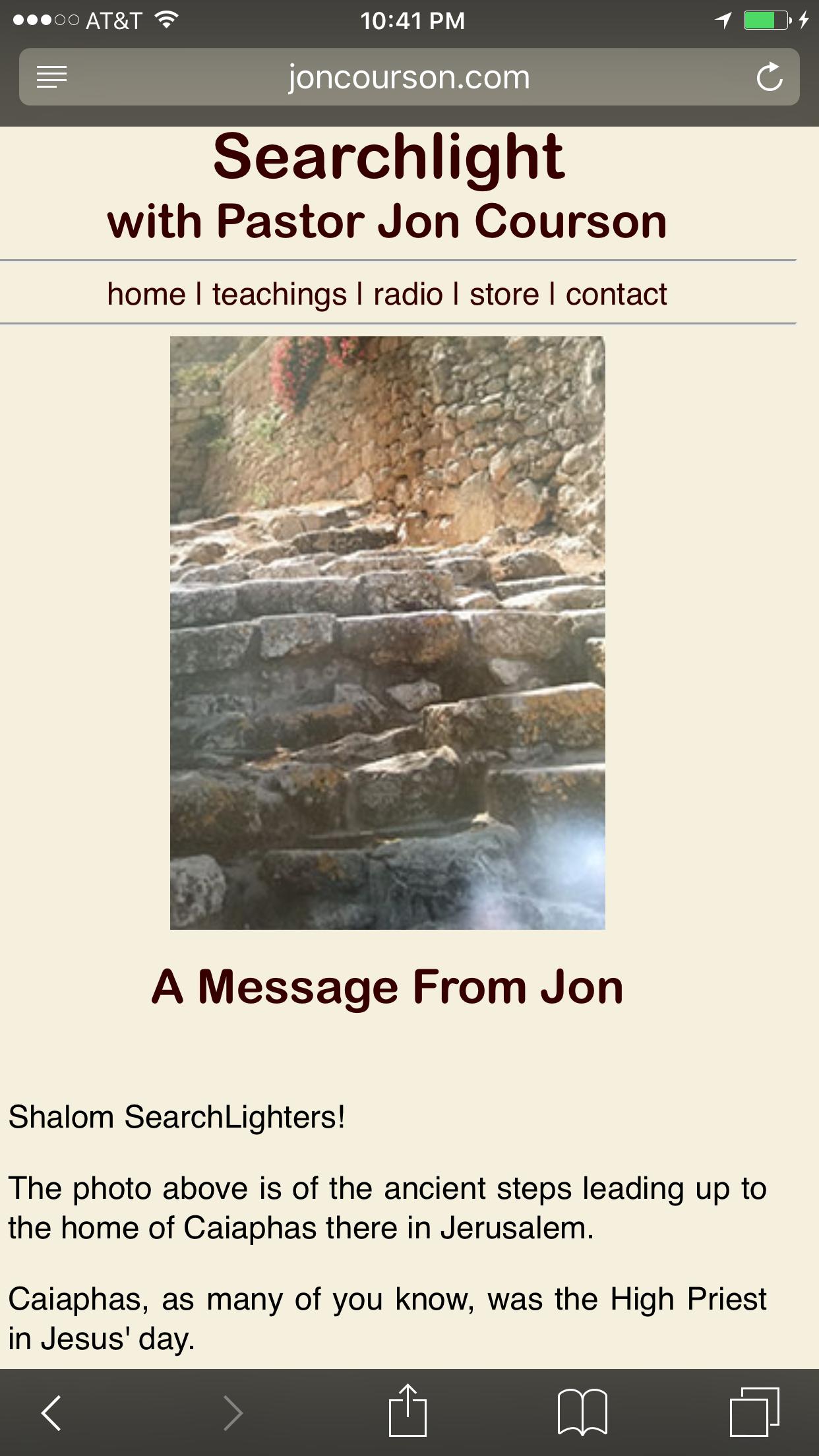 On Jons website last week