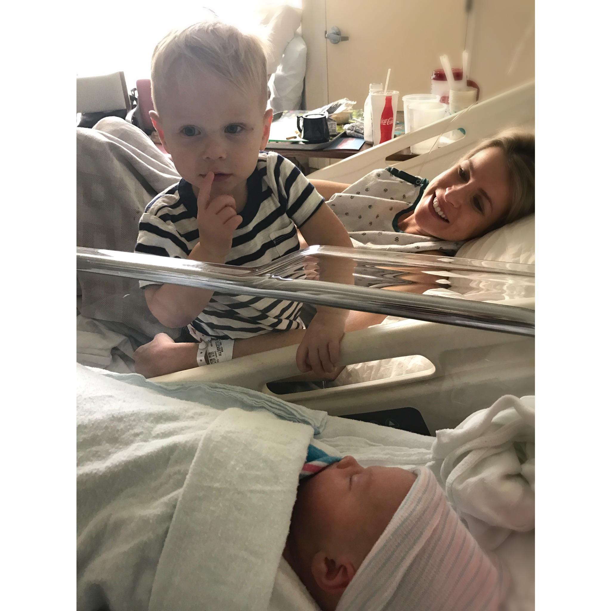 Shhhhhh... my new baby sis is sleeping! - Big Bro Ev