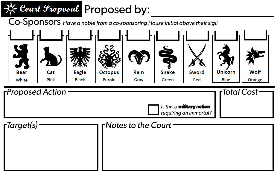 Sample Court Proposal Form